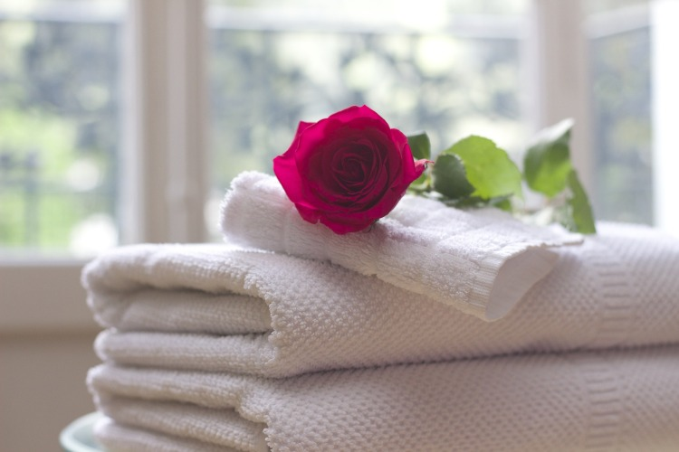 Goldstein et al. were able to use identity-related messaging to get hotel guests to reuse their towels. Towel-759980_1920 by Tesa Robbins. CC0 1.0