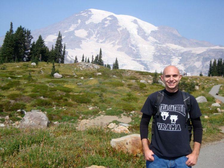 Hiking on Mount Rainier in 2012.
