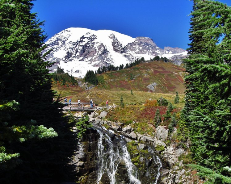 Mount Rainier is the first real mountain I ever visited. The experience was one I'll never forget. Mount Rainier National Park by Jasperdo. CC BY-NC-ND 2.0