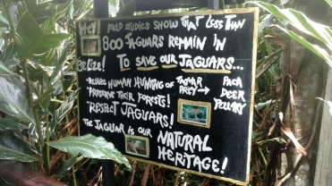 An important sign at the Belize Zoo.