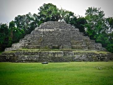 The Jaguar Temple at Lamanai.