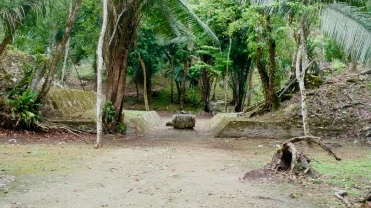 A Mayan ball court at Lamanai.