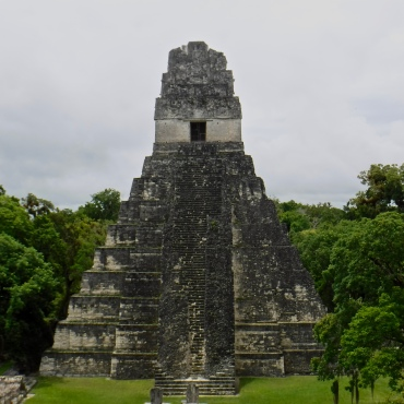 Temple I at Tikal, as seen from atop Temple II.