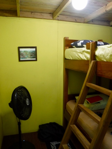 I was not thrilled about leaving my cozy tiny house, but I knew it was for the best. Shown here is my bedroom.