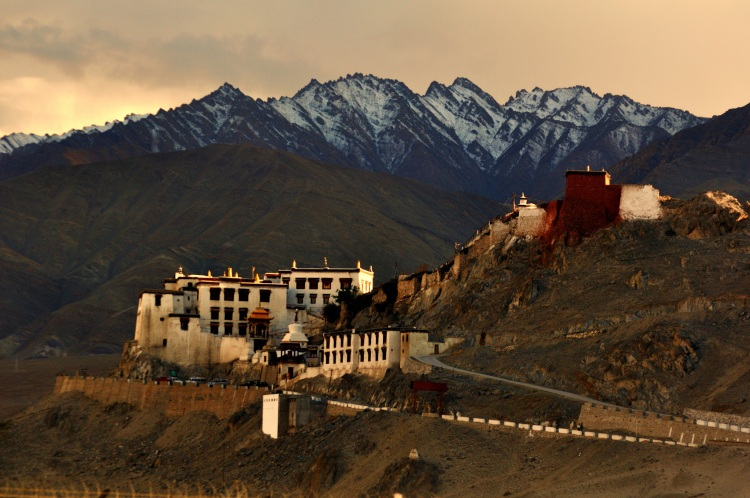 Spituk Monastery in the Leh district of Ladakh, India.