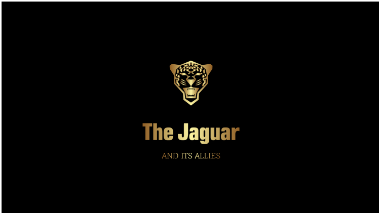 The site logo with a roaring jaguar icon.