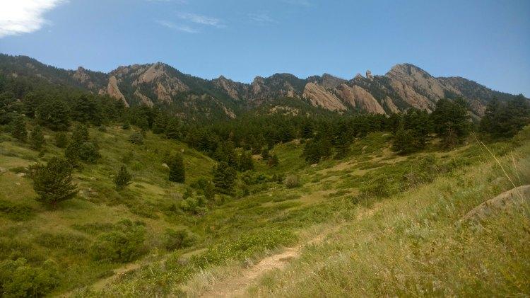 The Front Range near Boulder, CO.