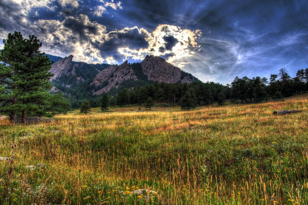 The Boulder Flatirons.